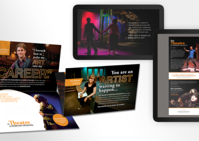 Marketing Collateral for The Anderson University Theatre Program