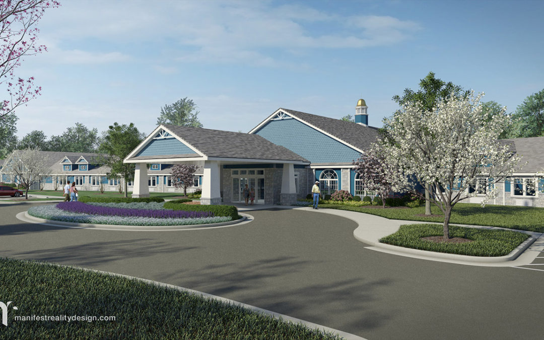 3D Architectural Visualization for Creekside Health and Rehabilitation