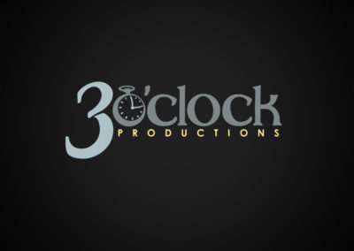 Logo Design for 3 O'Clock Productions