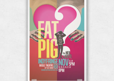 Poster Design for Fat Pig