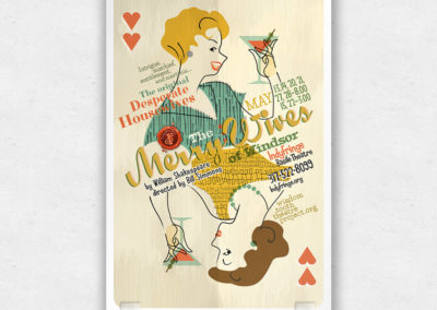 Poster Design for The Merry Wives of Windsor