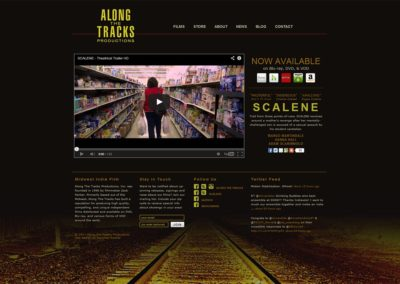 Website Design and Development for Along the Tracks Productions