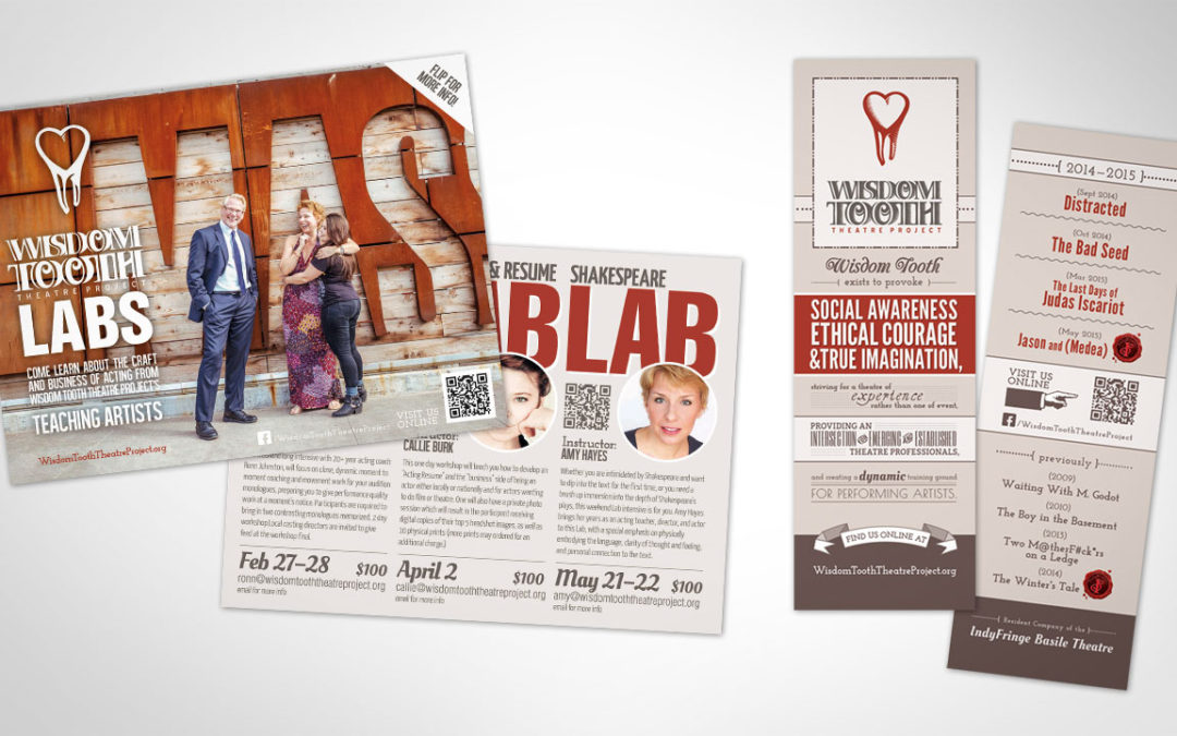 Marketing Collateral for Wisdom Tooth Theatre Project